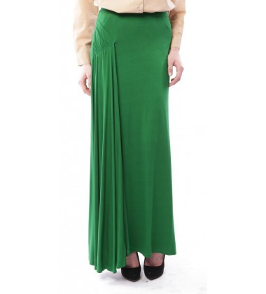 AZALEA side pleated jersey skirt in Green