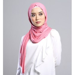 AZLIN SOFT JERSEY SHAWL in PINK