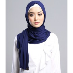 AZLIN SOFT JERSEY SHAWL in NAVY BLUE