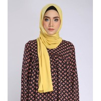 KAYRA SILKY SCARF IN CANARY