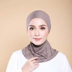 ASMAA Stretchable Inner Neck with Tieback in Taupe