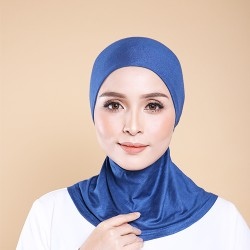 ASMAA Stretchable Inner Neck with Tieback in Cerulean Blue
