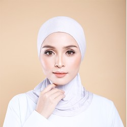 ASMAA Stretchable Inner Neck with Tieback in Light Grey