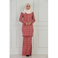 IFFAH Printed Pleated Kurung Moden