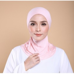 ASMAA Stretchable Inner Neck with Tieback in Peachy Pink
