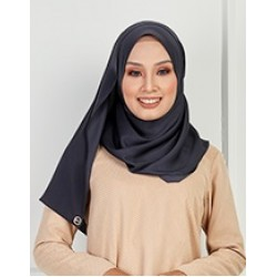 Saliha Silky Scarf in Dark Grey