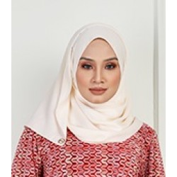 Saliha Silky Scarf in Cream