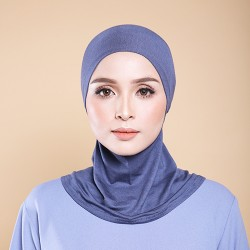 ASMAA Stretchable Inner Neck with Tieback in Charcoal Grey