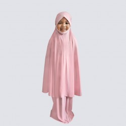 NAIA KIDS TELEKUNG PLAIN COTTON JERSEY IN LIGHT PINK