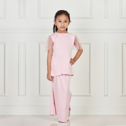 Sabrina With Pearl at Sleeve Kurung KIDS in Pink