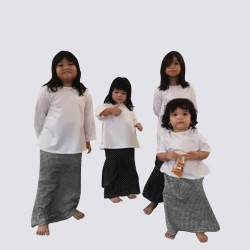 MAWAR PRINTED KURUNG KIDS IN Chequered Black