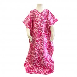 Nella Cotton Printed Kaftan in Pink