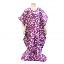 Nella Cotton Printed Kaftan in Purple