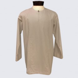 YAQUB COTTON KURTA IN NUDE