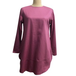 EDORA BASIC COTTON TUNIC IN PINK
