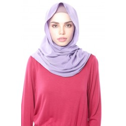 DUHA pastel plain shawl in Dusky Purple