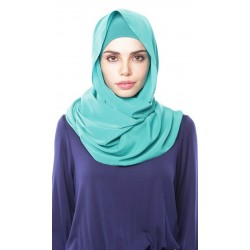 DUHA pastel plain shawl in  Green