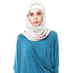 DUHA pastel plain shawl in Light Grey