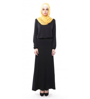 ELIF soft jersey maxi dress in Black