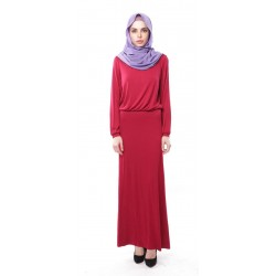 ELIF soft jersey maxi dress in Crimson Red