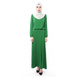 ELIF soft jersey maxi dress in Dark Green
