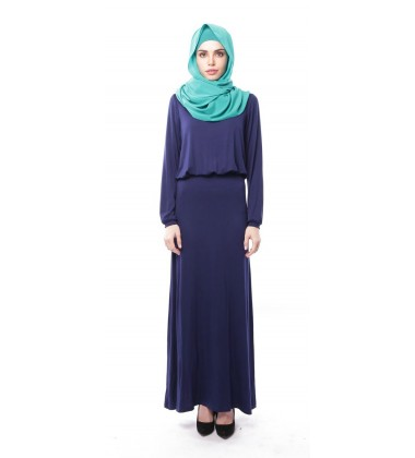 ELIF soft jersey maxi dress in Navy Blue