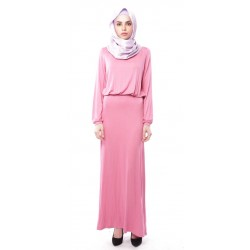 ELIF soft jersey maxi dress in Pink