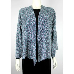 EMA printed kimono cardigan in Flower Purple