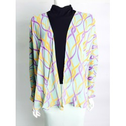 EMA printed kimono cardigan in Abstract Green
