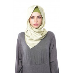 HAJAR Silk Shawl in Apple Green