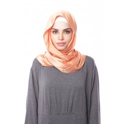 HAJAR Silk Shawl in Burnt Orange
