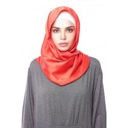 HAJAR Silk Shawl in Red