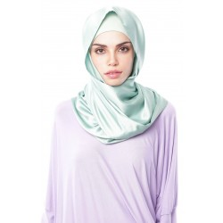HAJAR Silk Shawl in Sea Green