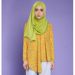 ALINA Flowy Butterfly Printed Top in Yellow