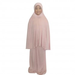 NAIA KIDS TELEKUNG PLAIN COTTON JERSEY IN BABY PINK