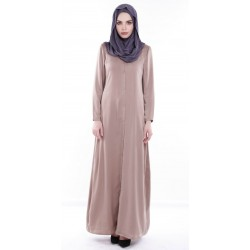 IRINE long maxi shirt dress in Coco Brown