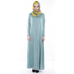 IRINE long maxi shirt dress in Aqua Green