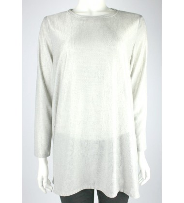 JILLIAN jersey knit top in Grey