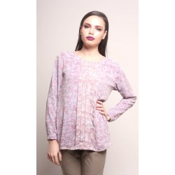 KAMILIA pastel with pleat blouse in Pastel Purple