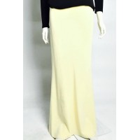KATIJA cotton jersey mermaid cut skirt in Soft Yellow