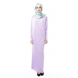 Latifa Draped Jersey Dress in Lilac