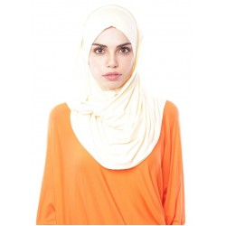MARIAM Soft Jersey Knit Twist Tudung (c) in Cream