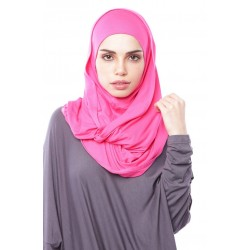 MARIAM Soft Jersey Knit Twist Tudung (c) in Pink