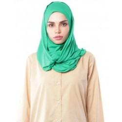 MARIAM Soft Jersey Knit Twist Tudung (c) in Kelly Green