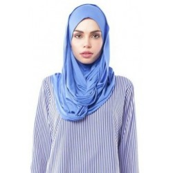 MARIAM Soft Jersey Knit Twist Tudung (d) in Nylon Blue