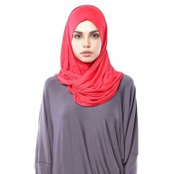 MARIAM Soft Jersey Knit Twist Tudung (c) in Red