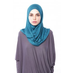 MARIAM Soft Jersey Knit Twist Tudung (c) in Teal Green