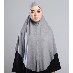 MEDINA Soft Jersey Oversized Tudung in Light Grey