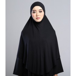 MEDINA Soft Jersey Oversized Tudung in Black
