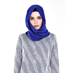 MELUR plain shawl in Blue